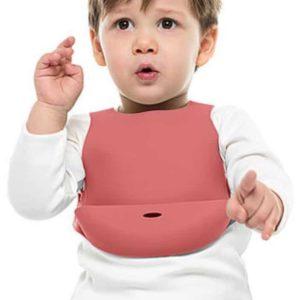 OiOi Silikon Mama Önlüğü (Bordo)