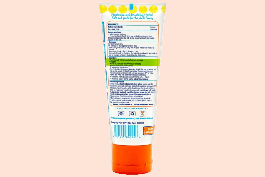 Trukid Trubaby Everday Play spf 30+ Faktör Bebekler için Mineral Organik İçerikli Doğal Güneş Koruyucu Krem Losyon 58 ml