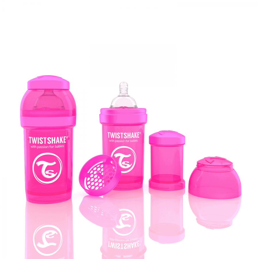 Twistshake Biberon Pembe 180 ml