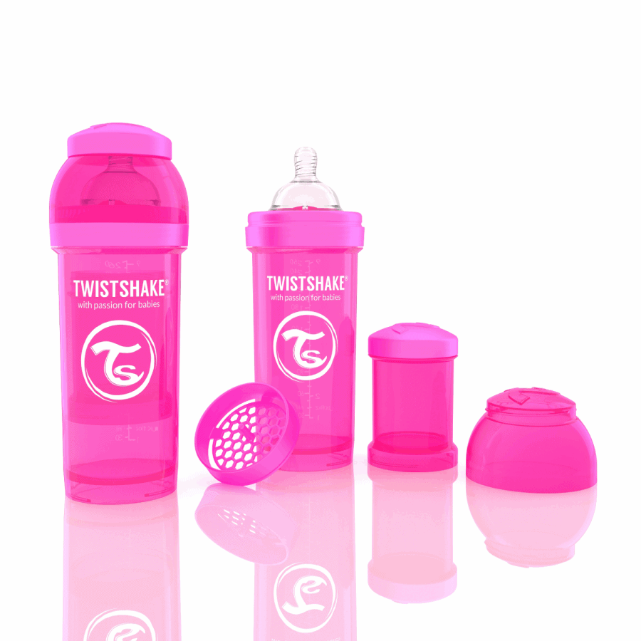 TwistShake Anti-Colic Pembe Biberon (260 ml)