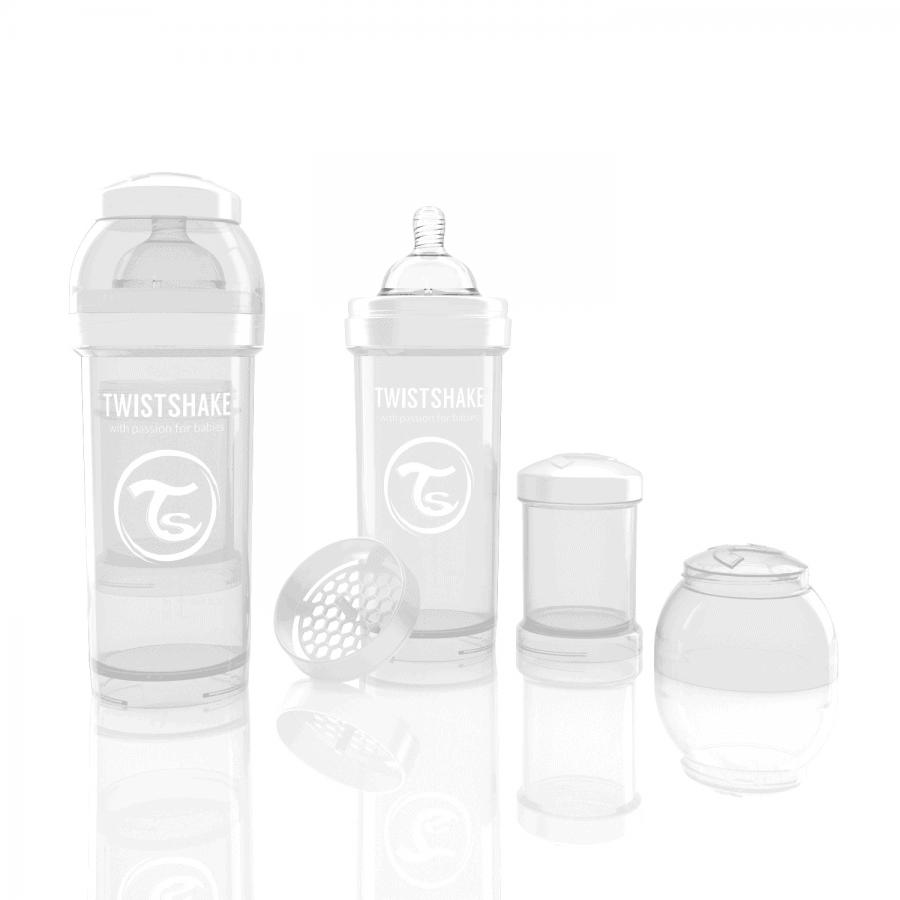 TwistShake Anti-Colic Beyaz Biberon (260 ml)