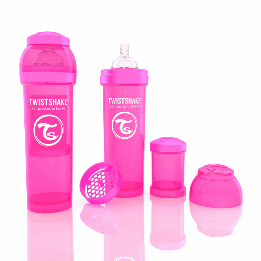 TwistShake Anti-Colic Pembe Biberon (330 ml)