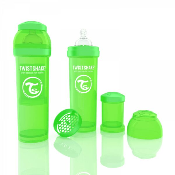 Twistshake biberon yeşil 330 ml