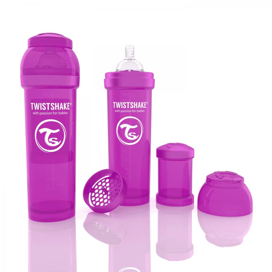 TwistShake Anti-Colic Mor Biberon (330 ml)