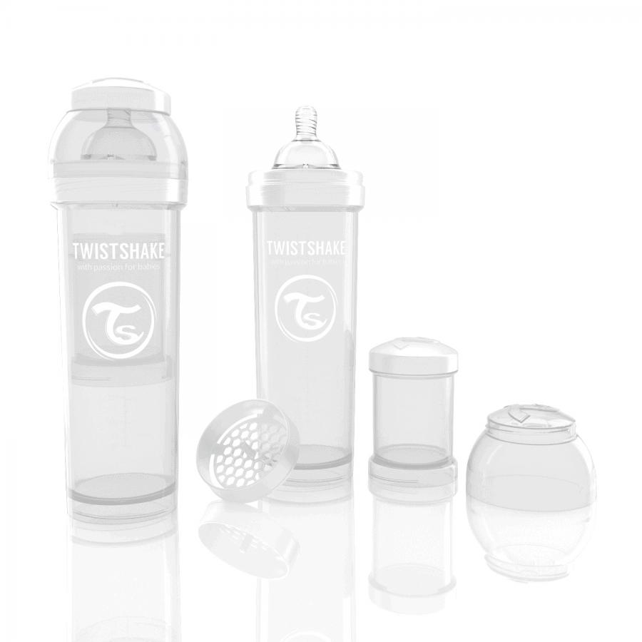 TwistShake Anti-Colic Beyaz Biberon (330 ml)