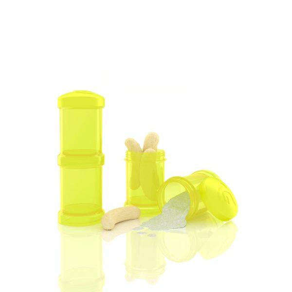 TwistShake İkili Saklama Kabı (Sarı)