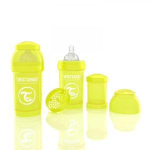 TwistShake Anti-Colic Sarı Biberon (180 ml)