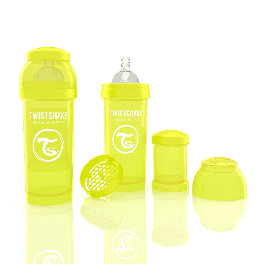 TwistShake Anti-Colic Sarı Biberon (260 ml)
