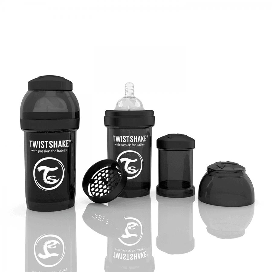 TwistShake Anti-Colic Siyah Biberon (180 ml)