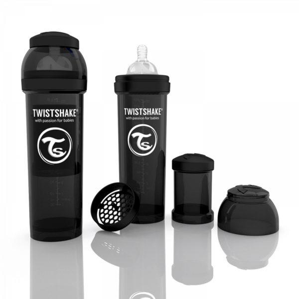 TwistShake Anti-Colic Siyah Biberon (330 ml)