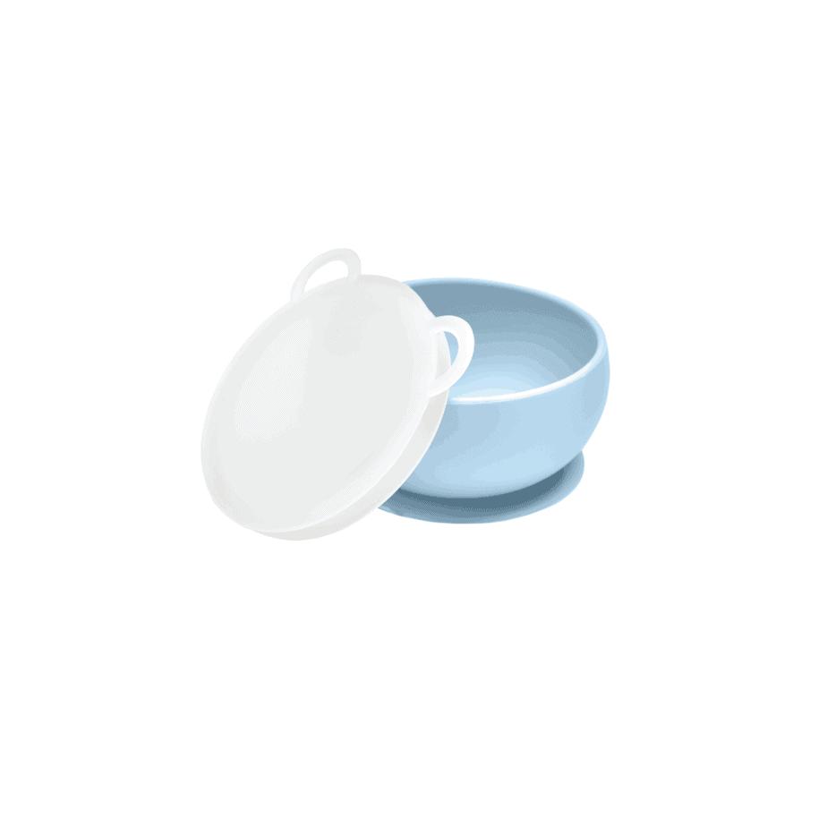 OiOi Vakum Tabanlı Silikon Kase(Mavi)