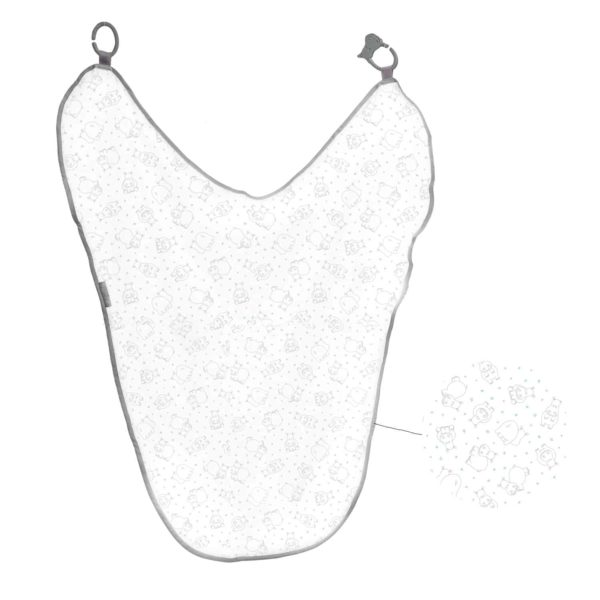 Cheeky Chompers MultiMuslin (Silver Stars)