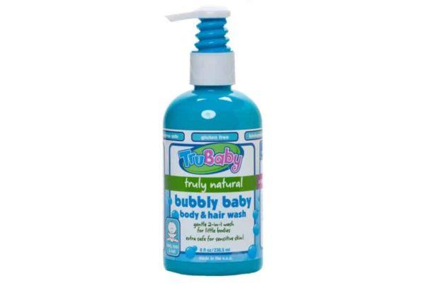 Trukid Trubaby Bubbly Hair & Body Wash -Bebek için Tamamen Doğal Organik Saç ve Vücut Şampuanı 236 ml