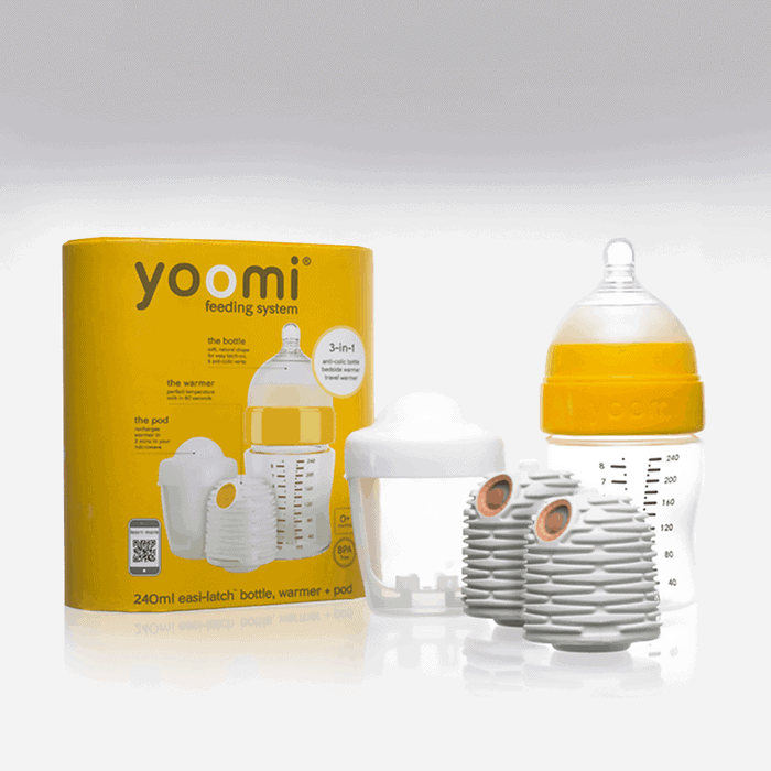 Yoomi 240ml Biberon + Isıtıcı + Yavaş Akışkan Emzik + Mikrodalga Isıtma Haznesi