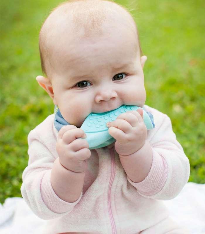Cheeky Chompers Diş Kaşıyıcılı Fular Önlük (Tiny Tatty Teddy Denim Day)