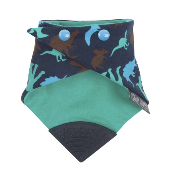 Cheeky Chompers Diş Kaşıyıcılı Fular Önlük (Dino Friends)