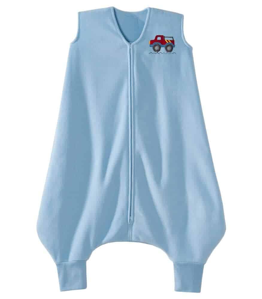 HALO® SleepSack® Big Kids Ayaklı Polar Uyku Tulumu - Mavi Kamyon (4-5 Yaş)