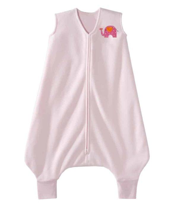 HALO® SleepSack® Big Kids Ayaklı Polar Uyku Tulumu - Pembe Fil (4-5 Yaş)