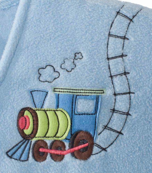 HALO® SleepSack® Ayaklı Polar Uyku Tulumu - Mavi Tren (18-24 Ay)