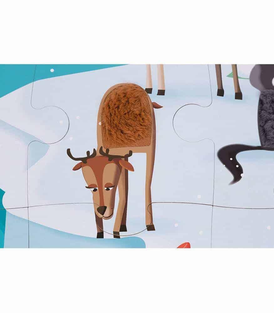Janod 20 Parça Dokun Hisset Puzzle - Kutup Hayatı