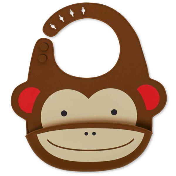 Skip Hop Silikon Önlük (Maymun)