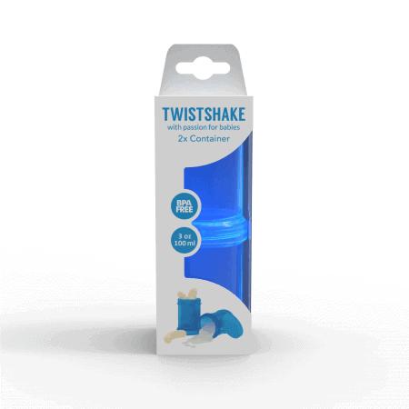 TwistShake İkili Saklama Kabı (Mavi)