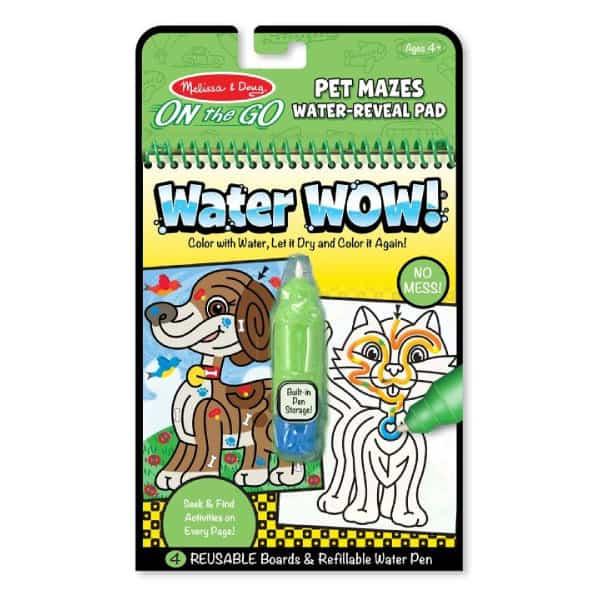 Melissa Doug Water Wow! Su ile boyama kitabı (Evcil Hayvanlar Bulmaca)