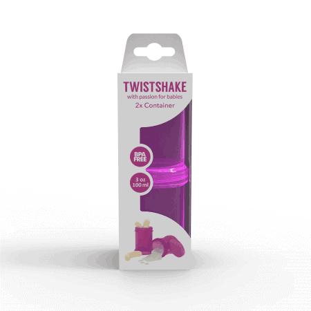 TwistShake İkili Saklama Kabı (Mor)