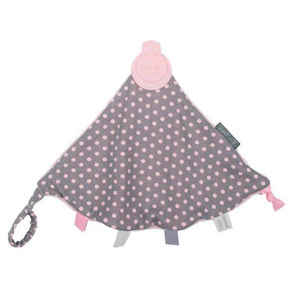 Cheeky Chompers Comfortchew Diş Kaşıyıcılı Uyku Arkadaşı (Polka Dot Pink)