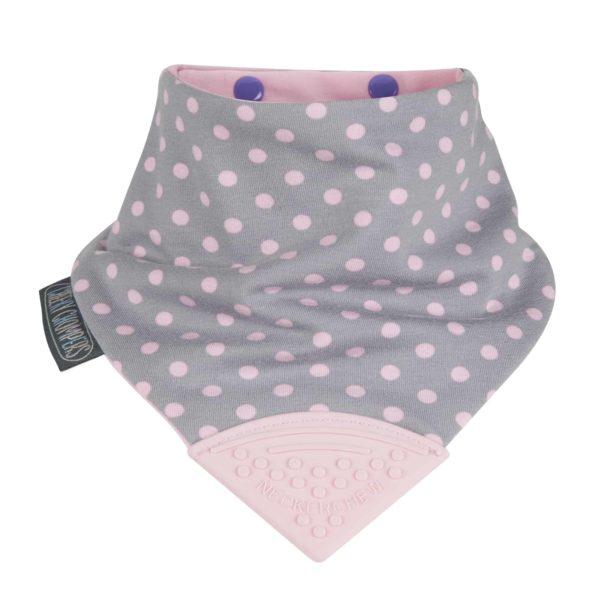 Cheeky Chompers NeckerBIB İkili Fular Önlük (Dots & Stripes)