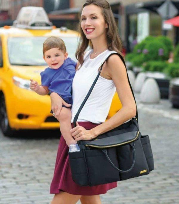 Skip Hop Chelsea Şehirli Şık Bebek Bakım Çantası (Siyah)