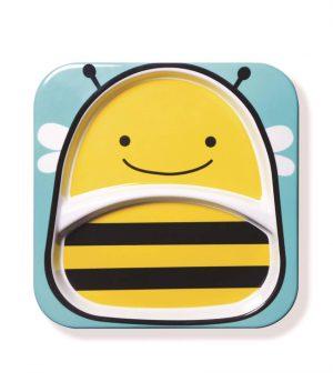 Skip Hop Zoo 2 Bölmeli Geniş Tabak (Arı)