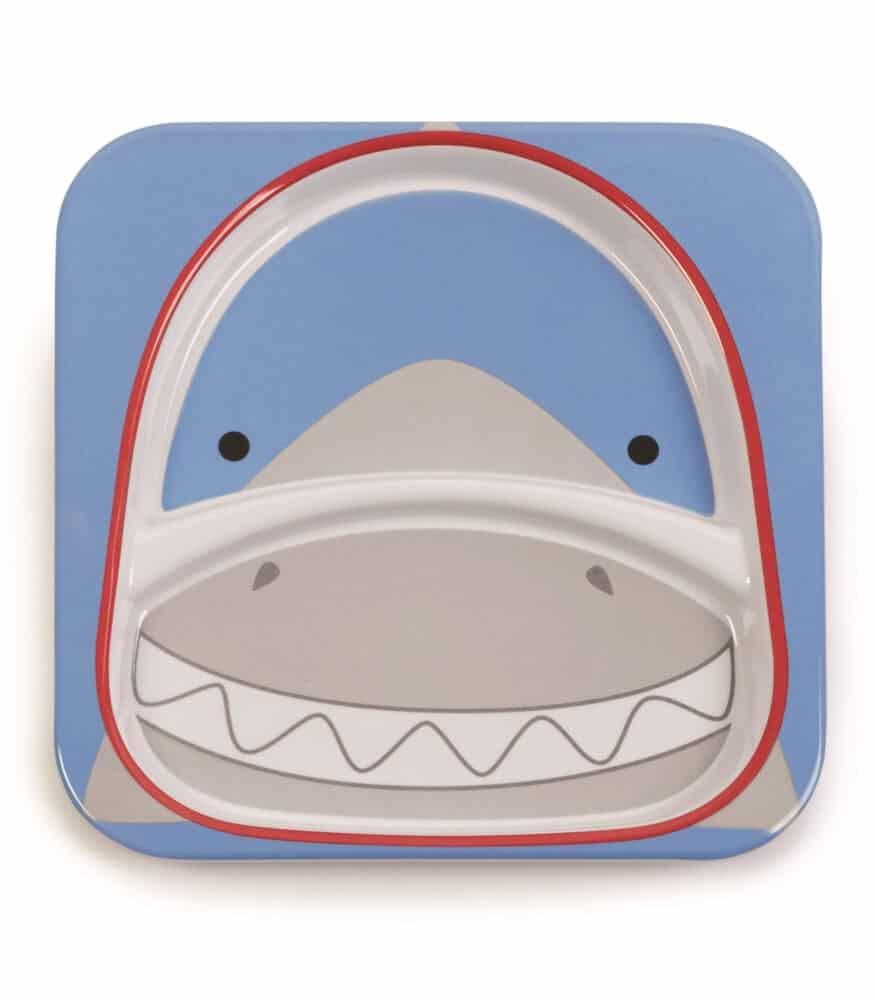 Skip Hop Zoo 2 Bölmeli Geniş Tabak (Köpekbalığı)