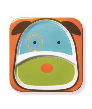 Skip Hop Zoo 2 Bölmeli Geniş Tabak (Köpek)