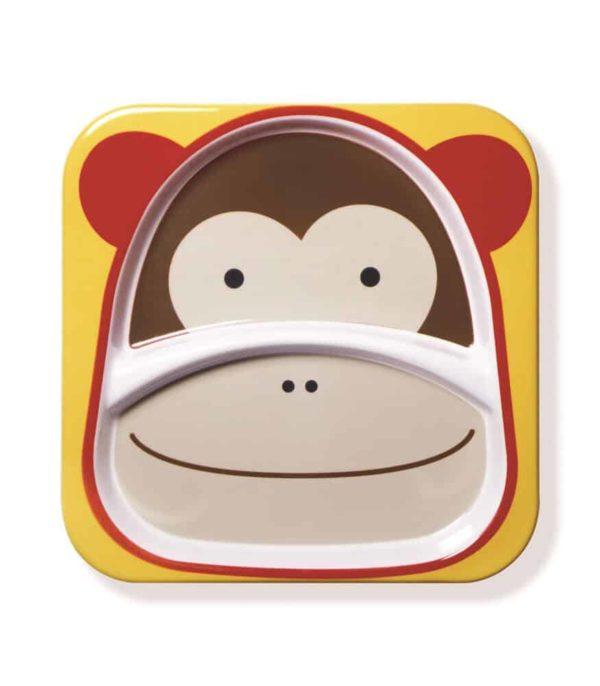 Skip Hop Zoo 2 Bölmeli Geniş Tabak (Maymun)