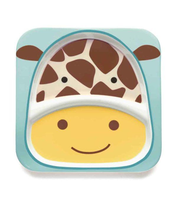 Skip Hop Zoo 2 Bölmeli Geniş Tabak (Zürafa)
