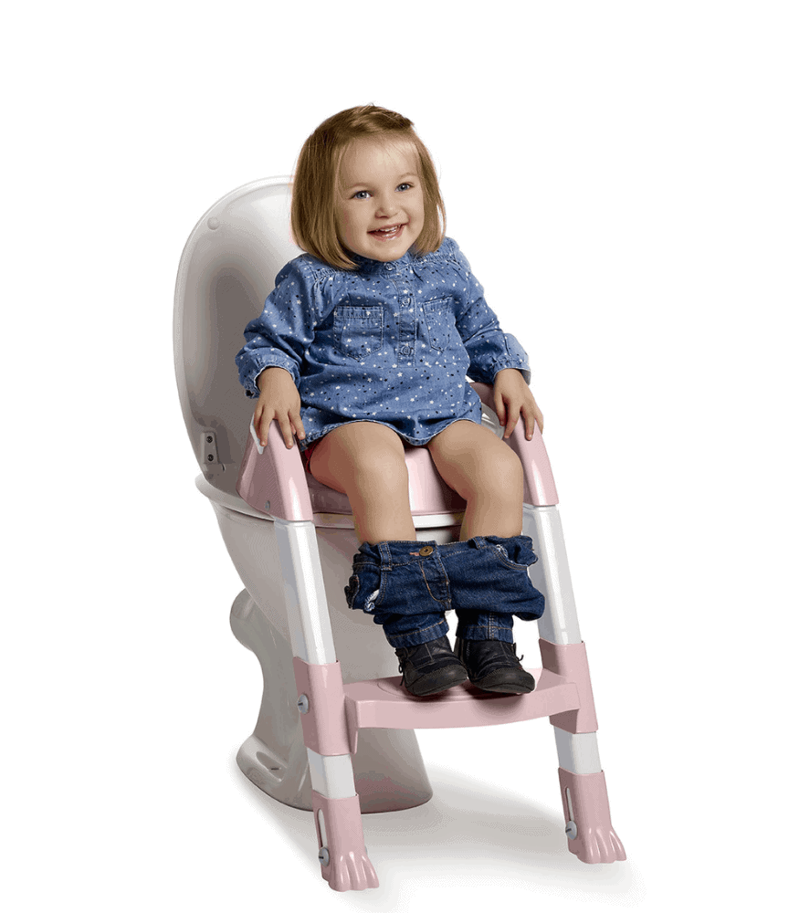 Thermobaby Kiddyloo Merdivenli Tuvalet Adaptörü Beyaz - Pudra (2019 Renk)