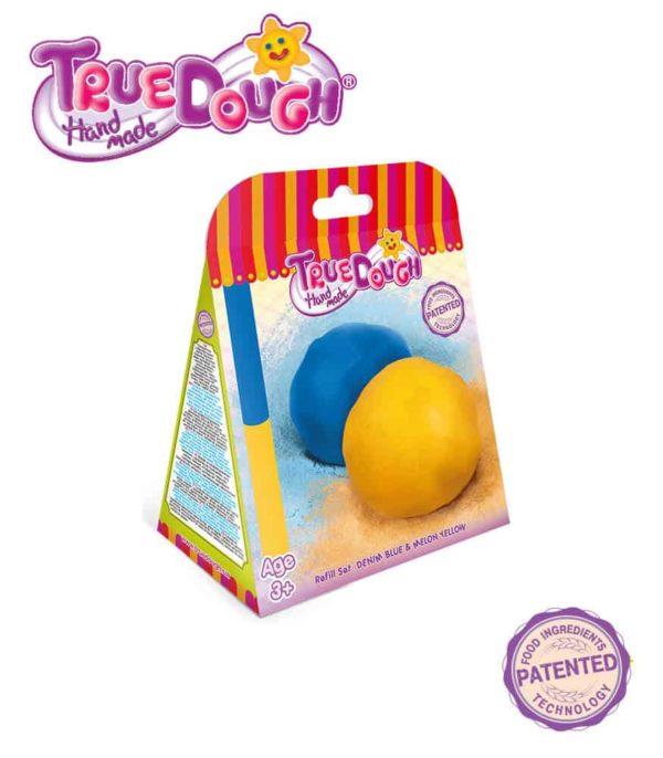 TrueDough Doğal Oyun Hamuru Yedek İkili Paket (Mavi & Sarı)