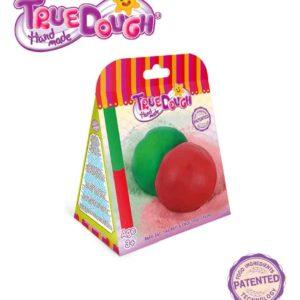 TrueDough Doğal Oyun Hamuru Yedek İkili Paket (Kırmızı & Yeşil)