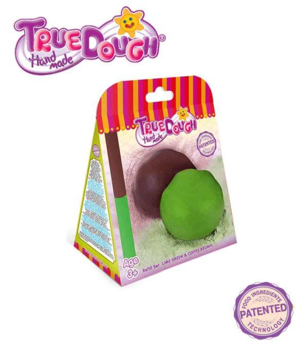 TrueDough Doğal Oyun Hamuru Yedek İkili Paket (Yeşil & Kahverengi)