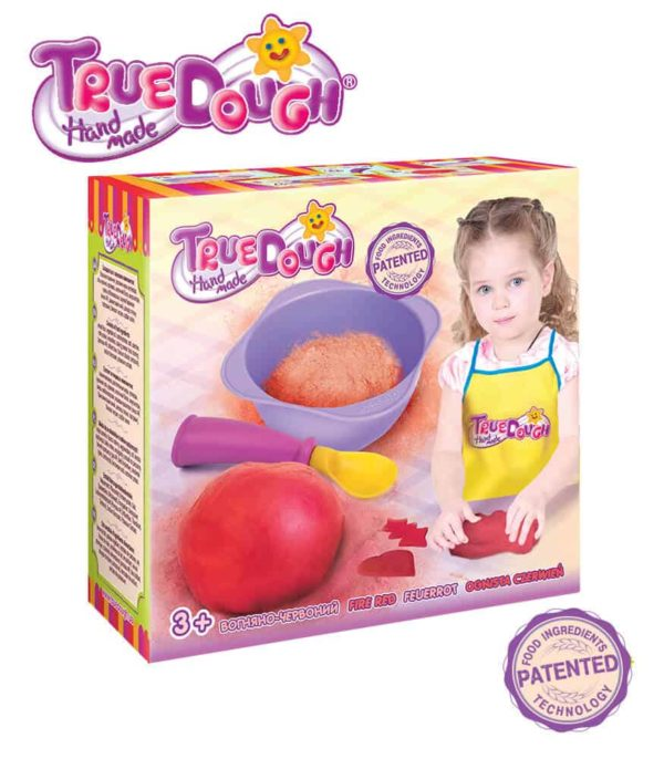 TrueDough Doğal Oyun Hamuru Tekli Paket (Kırmızı)
