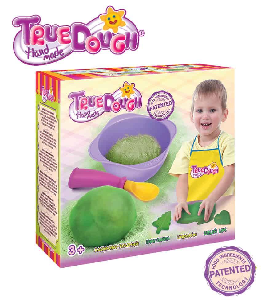TrueDough Doğal Oyun Hamuru Tekli Paket (Yeşil)