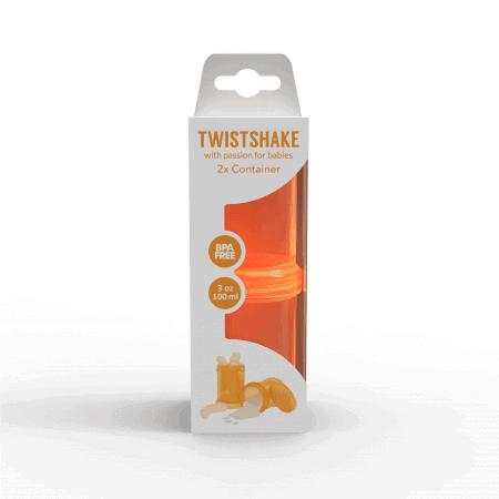 TwistShake İkili Saklama Kabı (Turuncu)