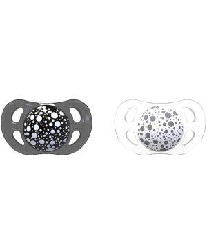 TwistShake Silikon Emzik (6 Ay+) / Siyah - Beyaz