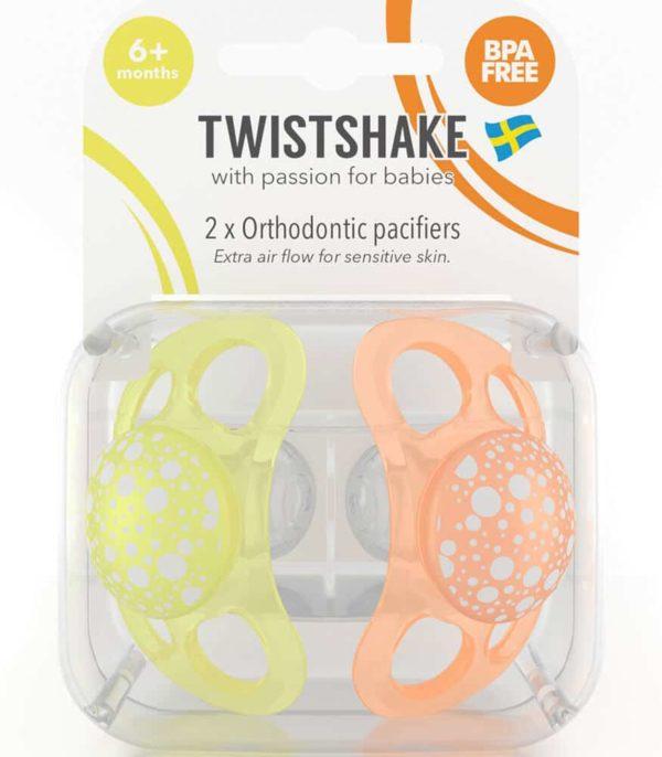 TwistShake Silikon Emzik (6 Ay+) / Turuncu - Sarı