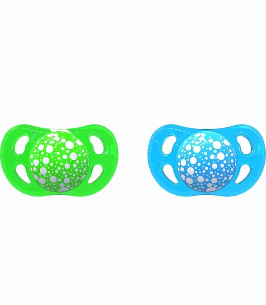 TwistShake Silikon Emzik (6 Ay+) / Mavi - Yeşil