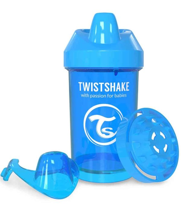 TwistShake Crawler Cup Damlatmaz Suluk Mavi (300 ml)