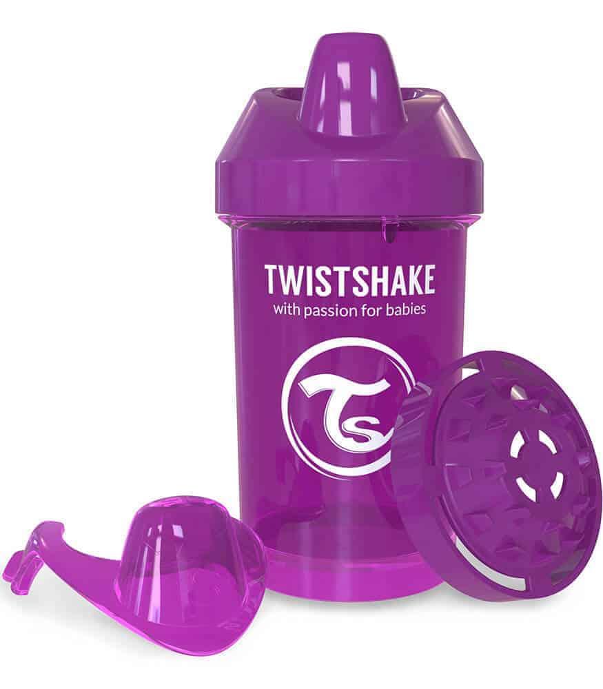TwistShake Crawler Cup Damlatmaz Suluk Mor (300 ml)