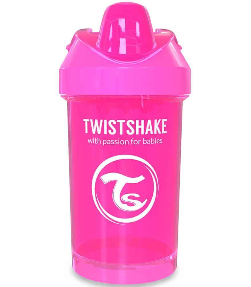 TwistShake Crawler Cup Damlatmaz Suluk Pembe (300 ml)