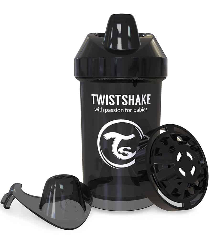 TwistShake Crawler Cup Damlatmaz Suluk Siyah (300 ml)